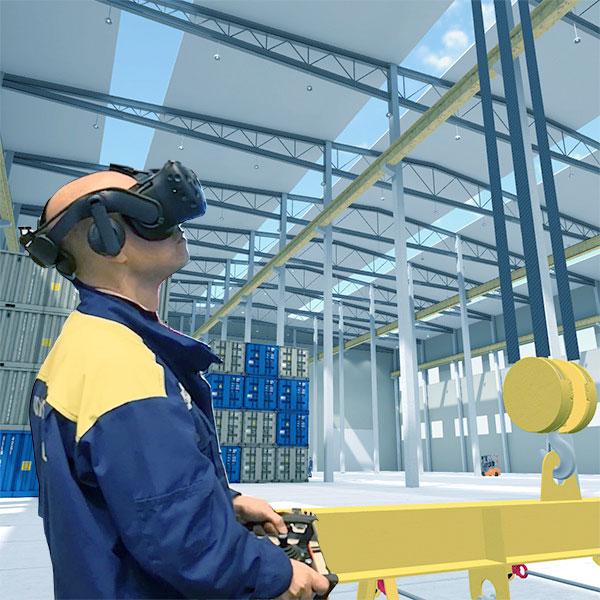 Bridge crane simulator